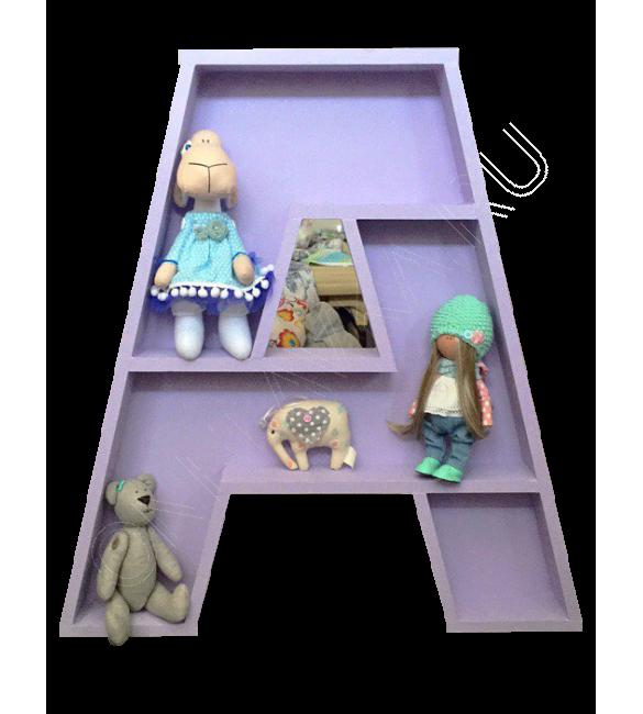 Полка-буква А фиолетовая