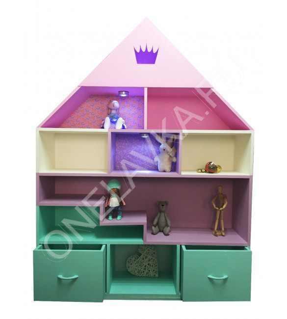 """Напольный кукольный домик-полка для книг и игрушек """"Иль-де-Франс"""""""