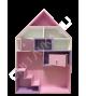 """Розовый кукольный домик для девочки """"Ибица"""""""