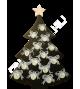 """Меловая доска """"Новогодняя ёлка-2"""""""