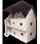 """Деревянный домик замок для кукол """"Лангедок"""""""